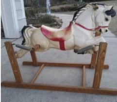 Rocking Horse High Chair Treasures Post World War Ii Rocking Horses Mass Produced New