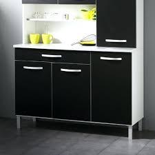 buffet de cuisine noir buffet cuisine noir buffet de cuisine 6 portes 120x44x181cm