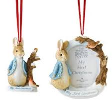 beatrix potter rabbit ornament and hanging