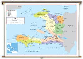World Map Haiti by Haiti Political Educational Wall Map From Academia Maps