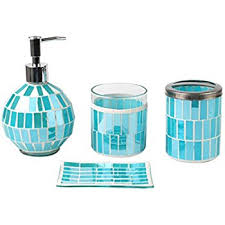 Stein Mart Bathroom Accessories by Amazon Com 4 Piece Ceramic Bathroom Accessory Set Sea Animal