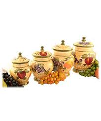 wine kitchen canisters stunning set of four canisters ceramic garden tuscan collection