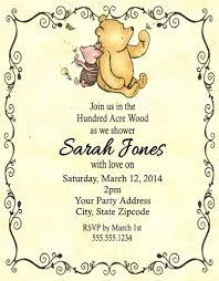 winnie the pooh baby shower invitations winnie the pooh baby shower or birthday party invitations