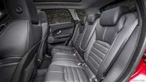land rover evoque interior 2016 range rover evoque hse luxury dynamic interior rear seats