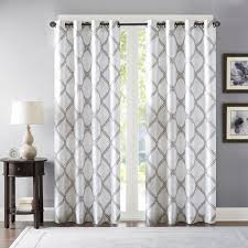 Embroidered Curtain Panels Bombay Teramo Embroidered Polyoni Window Curtain Ebay
