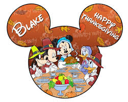 disney thanksgiving printable iron on transfer or use as clip