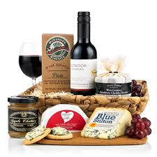 Wine And Cheese Basket Wine U0026 Cheese Selection Hamper Virginia Hayward Hampers