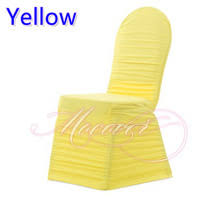 Ruched Chair Covers Popular Yellow Chair Covers Buy Cheap Yellow Chair Covers Lots