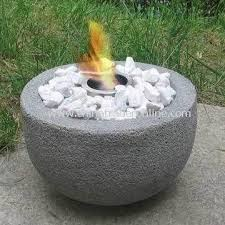 wholesale river rock stone fire pit with gel burner and fire pot