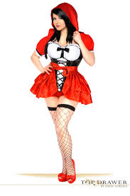 Corset Halloween Costumes Size Size Red Riding Hood Corset Costume