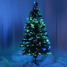 luxury fibre optic green black christmas tree decoration 3ft 4ft
