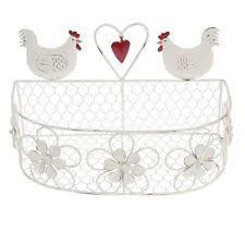 Shabby Chic Wire Basket by Wire Egg Basket Ebay