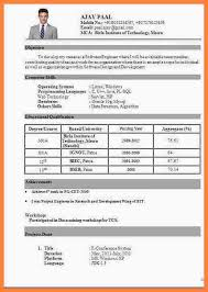 resume format for fresher 7 cv format pdf for fresher bussines 2017
