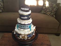 chargers football diaper cake baby shower centerpiece gift