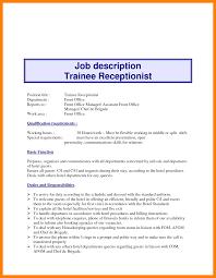 Front Desk Hotel Responsibilities 8 Front Desk Receptionist Job Description Invitation Format