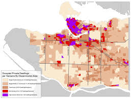 Map Vancouver Canada by Density Map Shows Where Vancouver U0027s People Live U2014 And Where They