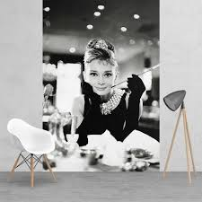 and white audrey hepburn breakfast at tiffanys feature wall black and white audrey hepburn breakfast at tiffanys feature wall wallpaper mural 158cm x 232cm