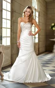 wedding dress ruching sweetheart strapless trumpet side draped ruched wedding dress