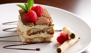 traditional italian dessert tiramisu with savory mascarpone cheese