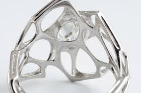 3d printed engagement ring custom engagement rings made with code 3d printing and diamonds