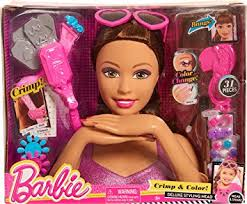 amazon play barbie color u0026 crimp mc styling head toys