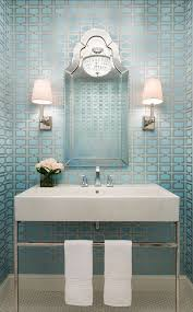 Modern Wallpaper For Bathrooms Powder Room Wallpaper Inspiration Fashionable Hostess