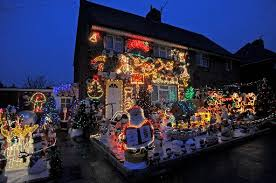 drive by christmas lights christmas mad family light up home for festive season the argus