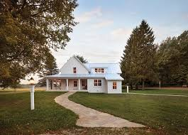 Farmhouse With Wrap Around Porch White Farmhouse White Farmhouse With Wrap Around Porch And Metal