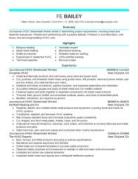 Hvac Resume Sample by Sheet Metal Resume Examples Free Resume Example And Writing Download