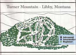 Libby Montana Map by Turner Mountain Skimap Org