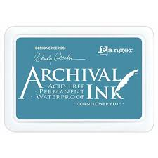 cornflower blue ranger archival ink pad cornflower blue
