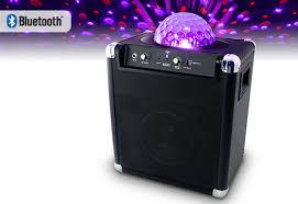 karaoke machine with disco lights wireless speaker with party light sharper image