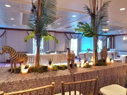 safari themed table decoration nj wedding event decor u2013 parker u0027s