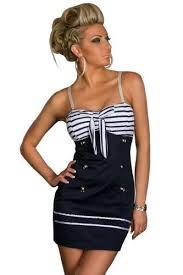 Nautical Dress Theme - amour quality pin up sailor marine costume style dress