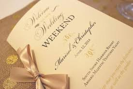 gold wedding programs welcome wedding booklet gold wedding programs wedding welcome