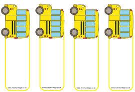bus bookmark templates