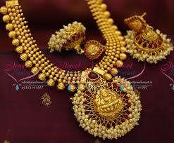 necklace pendant designs gold images Nl5248 kemp temple laxmi beads broad pendant design gold plated JPG
