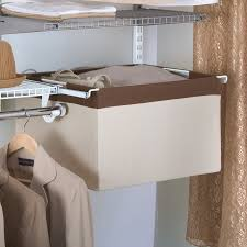 Tips Rubbermaid Closet Kit Lowes Shop Rubbermaid Homefree Series Natural Canvas Sliding Basket At