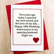 10th year wedding anniversary 10 year wedding anniversary card card design ideas