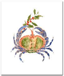 nautical christmas cards blue crab christmas cards christmas cards boxed 10 per boxed set