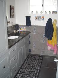 grey tile blue boys bathroom towel cubbies small image clipgoo
