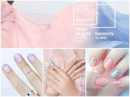 Peach Pantone Pastel Nail Art Designs Pink And Blue Pastel Nails Pastel