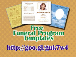 memorial service programs templates free free funeral templates word pertamini co