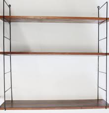 String Shelving by Swedish Three Tiered Wall Shelf From String For Sale At Pamono