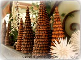 at the tip of the tree you can insert a pine cone tip into the