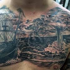 50 cloud chest tattoos for blue sky ink design ideas