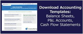 download accounting templates balance sheets p u0026l accounts cash