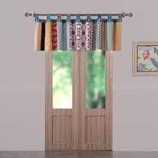 valance bohemian floral medallion pieced window treatment curtains