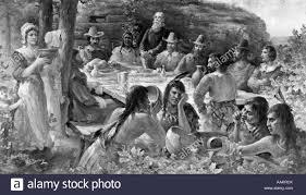 the pilgrims thanksgiving the first thanksgiving december 13 1621 pilgrims sharing harvest