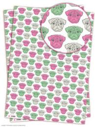 pug wrapping paper brainbox candy pug wrapping paper 2 sheets gift wrap dog birthday